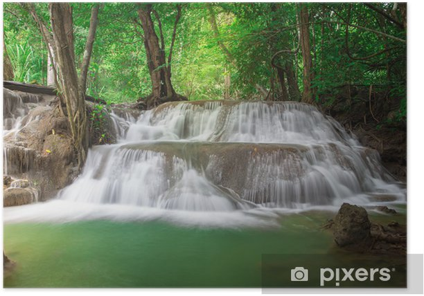 Thailand waterfall in Kanchanaburi (Huay Mae Kamin) Poster - Water