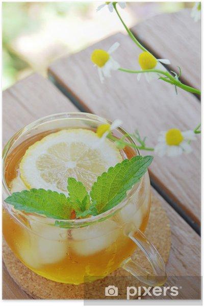 Poster Thé au citron avec des herbes - Boissons chaudes
