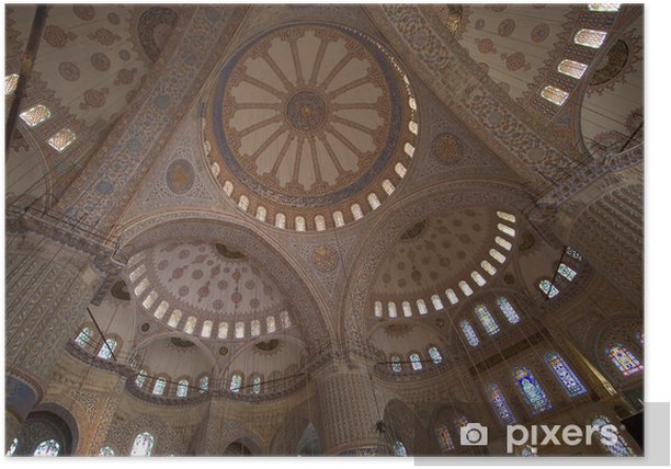 the blue mosque interior Poster - The Middle East