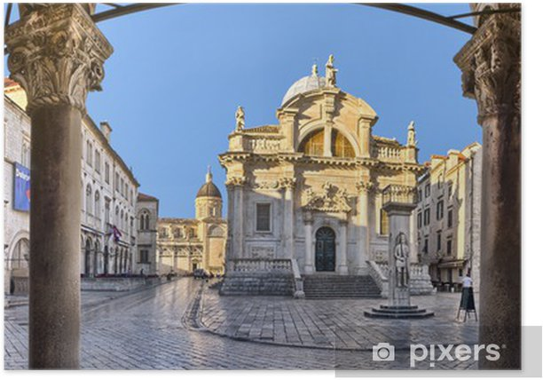The Church of St. Blaise in Dubrovnik, Croatia Poster - Europe