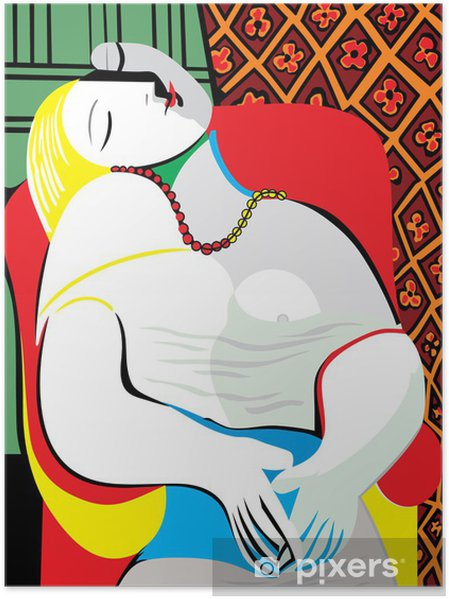 Poster The Dream Pablo Picasso - Kantoor