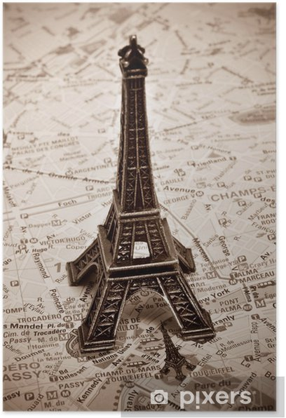 the Eiffel Tower in Paris, France Poster - Themes