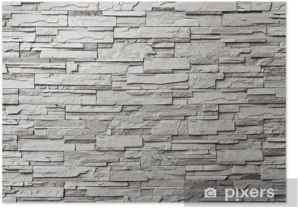 The gray modern stone wall Poster - Styles