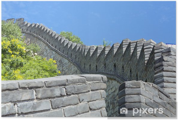 Poster The great wall of china - Asie