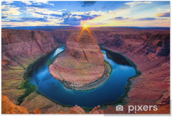 Poster The Horseshoe Bend, USA - Teman