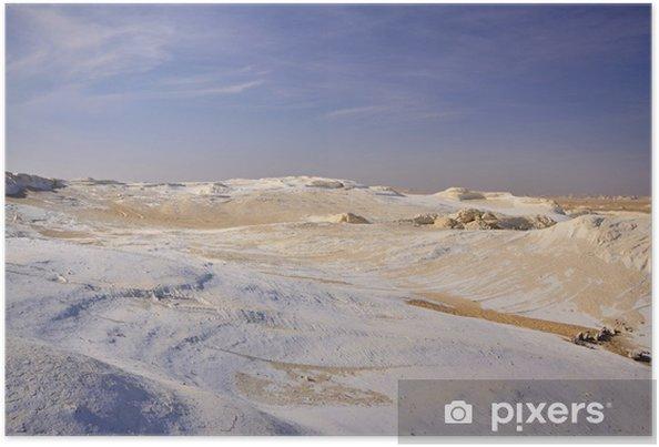 The limestone formation rocks in the Western White desert, Egypt Poster