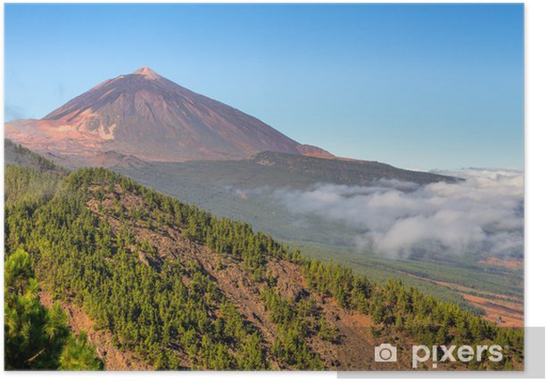The Teide volcano in Orotava Valley, Tenerife Poster - Themes