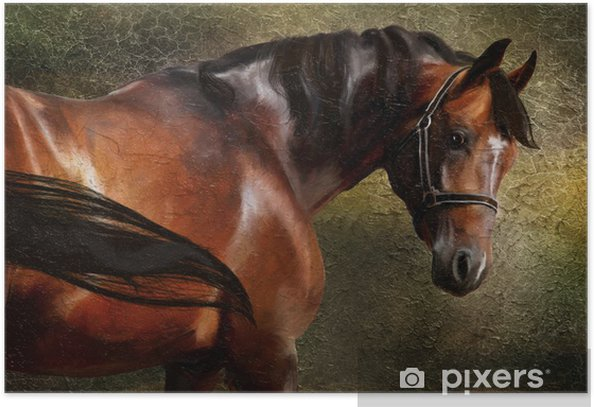 The Thoroughbred classical oil portrait Poster - Criteo