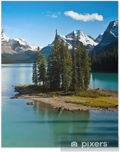 The Wold Famous Spirit Island In Jasper National Park Poster Pixers We Live To Change