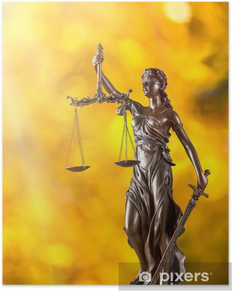 Poster Themis Pleins feux - concept de justice - Justice