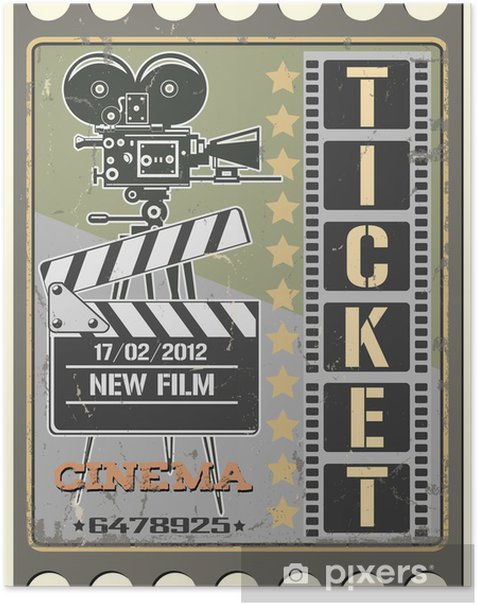 Ticket in cinema Poster - Themes