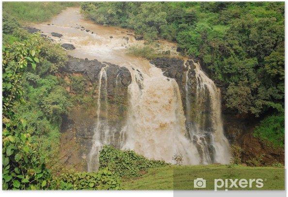 Poster Tiss abay tombe sur la rivière du Nil Bleu, l'Ethiopie - Afrique