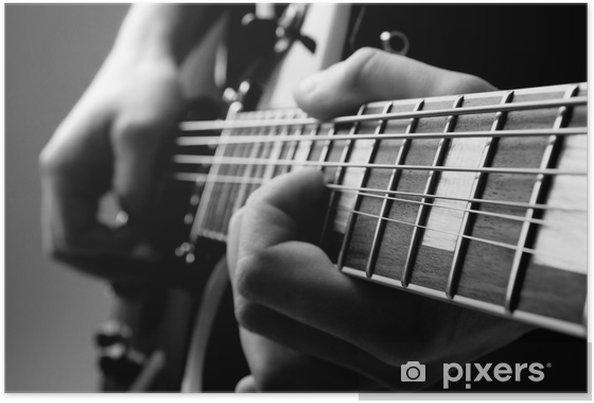 Póster Tocar la guitarra - Jazz
