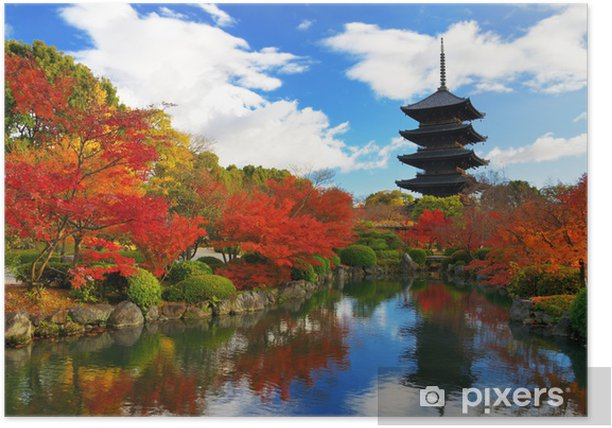 Toji Pagoda in Kyoto, Japan Poster - Themes