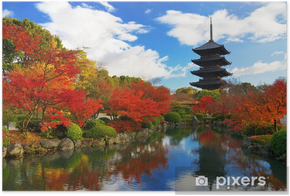 Poster Toji Pagode à Kyoto, Japon - Thèmes