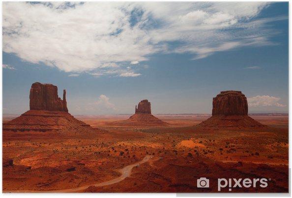 Poster Toppar av klippformationer i Navajo Park Monument Valley - Amerika