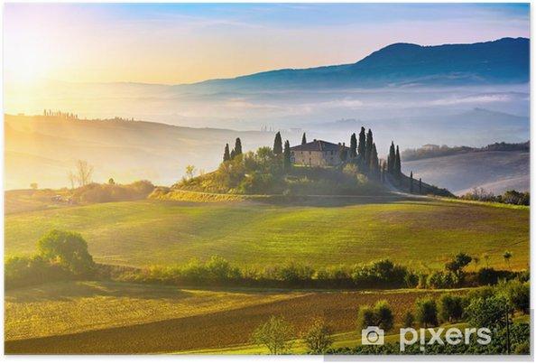 Póster Toscana en la salida del sol - Temas