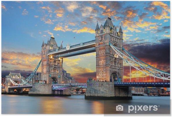 Poster Tower Bridge à Londres, Royaume-Uni -