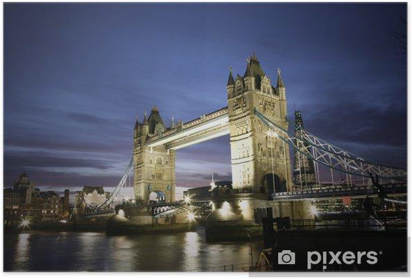 Poster Tower bridge au crépuscule - Thèmes