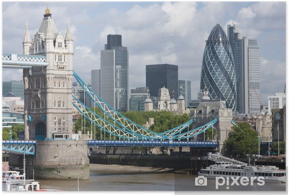 Poster Tower Bridge en de augurk - Thema's