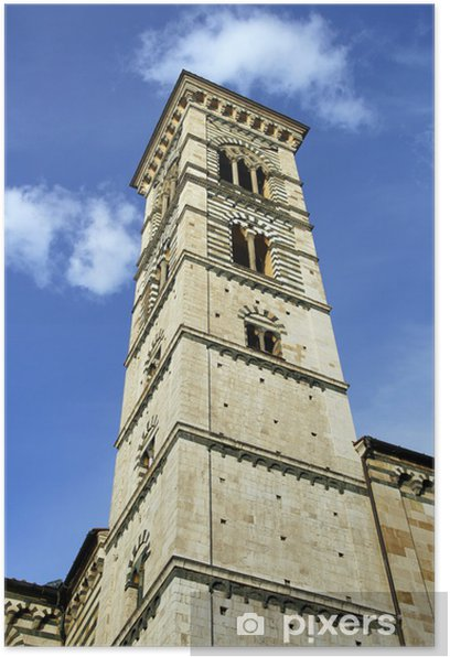 Tower of the Cathedral of Prato, Italy Poster - Europe