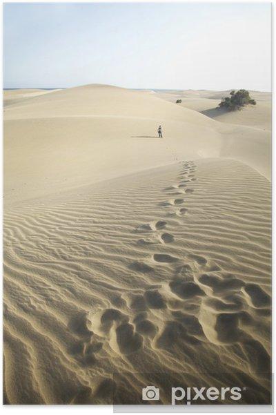 Poster Traces dans le désert - Sports d'extérieur