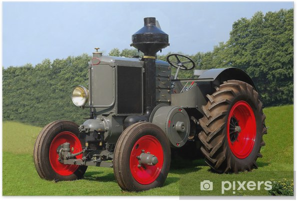 Poster Tracteur Classic Vintage - Agriculture