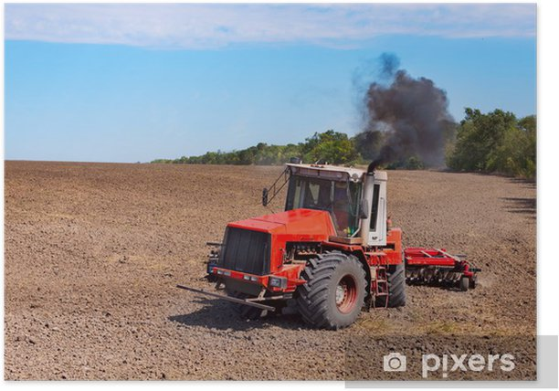 Poster Tracteur - Agriculture