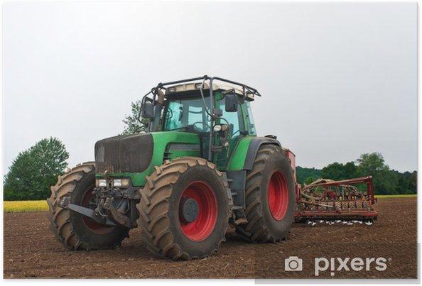 Poster Tractor agrarische werkzaamheden machine - Thema's