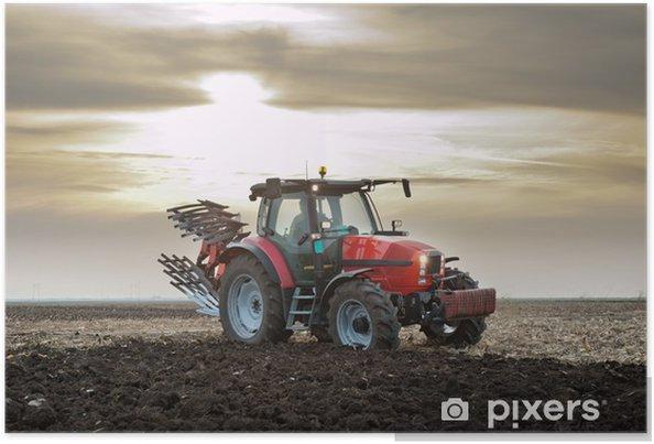 Poster Tractor bij Zonsondergang - Thema's