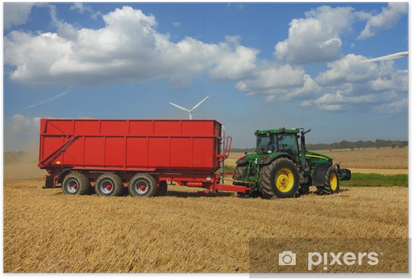 Poster Tractor mit Linked - Thema's