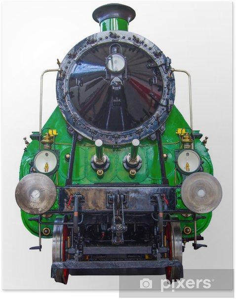 Poster Train à vapeur isolé - Chemin de fer
