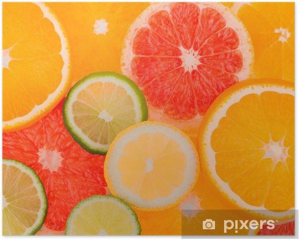 Poster Tranches d'orange - Ethique