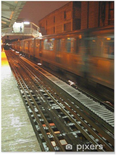 Poster Transport public 1 - Les gares et le métro