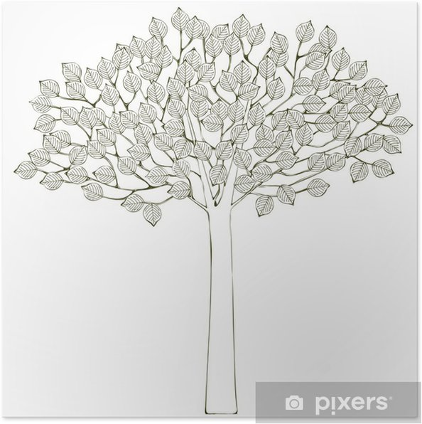 Poster Tree Background - Arbres