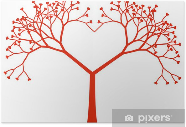tree heart, vector Poster - Happiness