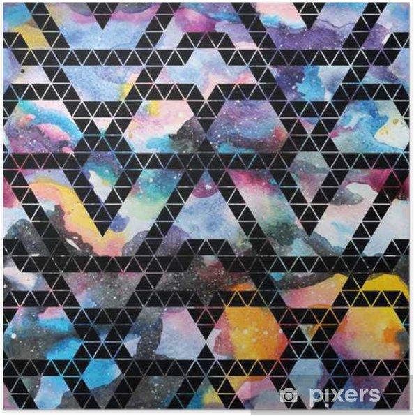 Poster Tribal melkweg naadloos patroon. - Grafische Bronnen