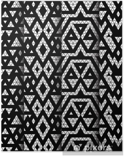 Tribal monochrome lace patterns. Vector illustration. Poster - Art and Creation