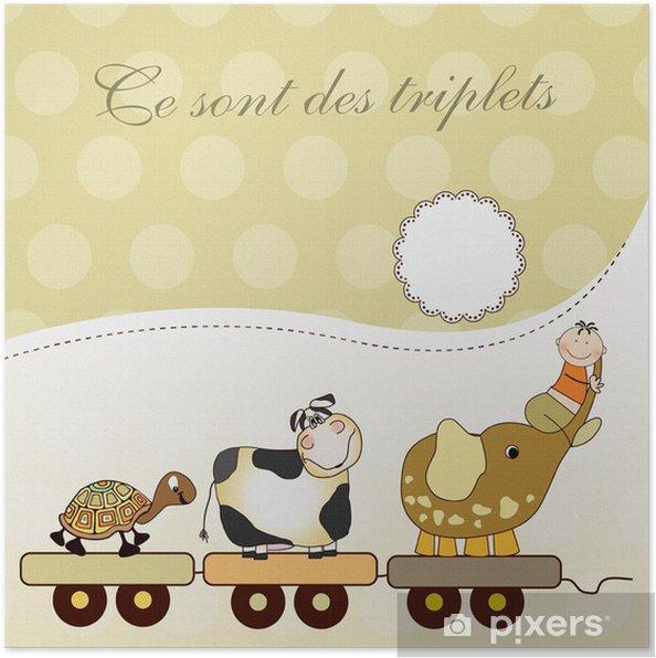 Póster Trillizos naissance (carta) - Vida
