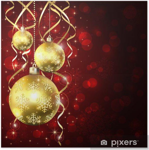 Poster Trois Boules De Noël Dorées Pixers Nous Vivons Pour Changer
