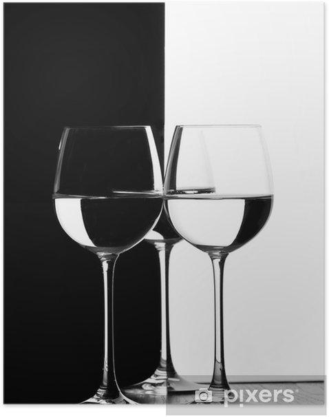 Poster Trois verres de vin - Accessoires