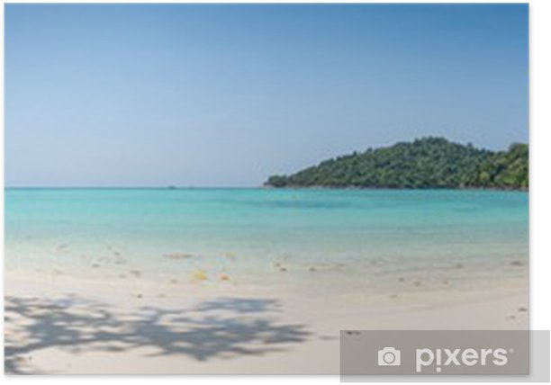 Poster Tropical Beach énorme Panorama sauvage. Mer Turuoise à Surin Marine - Thèmes