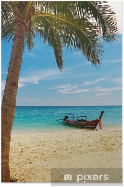 Poster Tropical beach, Thailand. - Vacances