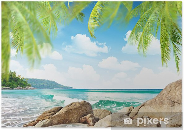 Poster Tropical beach - Vacances