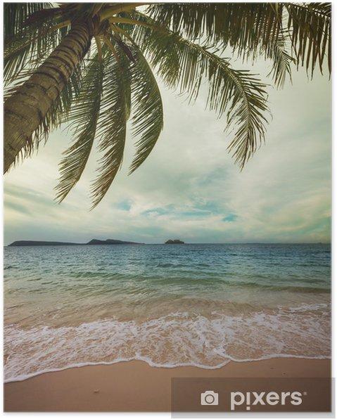 Póster Tropical beach - Vacaciones