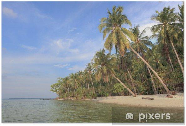 Poster Tropical beach - Eau