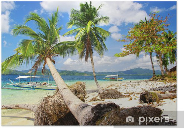 tropical island scene Poster - Holidays