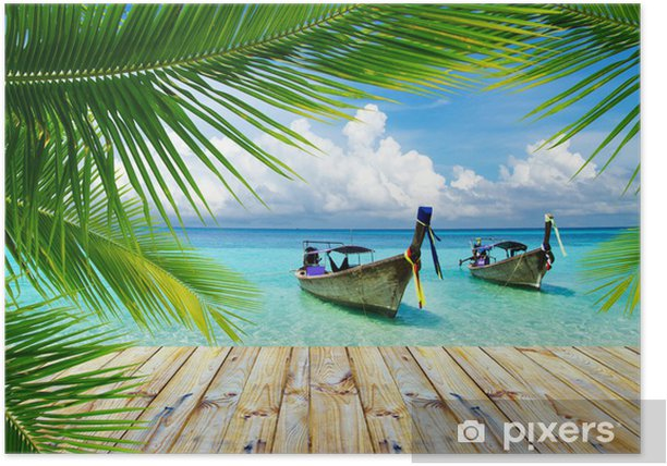 tropical sea Poster - Themes