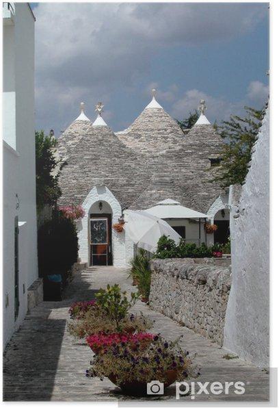 Trulli houses in Alberobello, Italy Poster - Europe