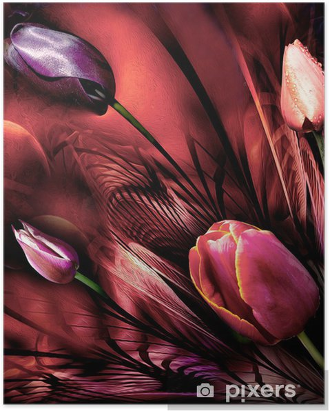 Poster Tulipes abstrackt - Thèmes